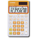 Casio - Portable Calculator - Carrot Orange