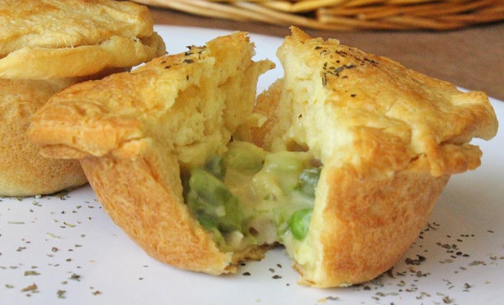 Chicken Pot Pie Muffins - www.turtlesandtails.blogspot.com