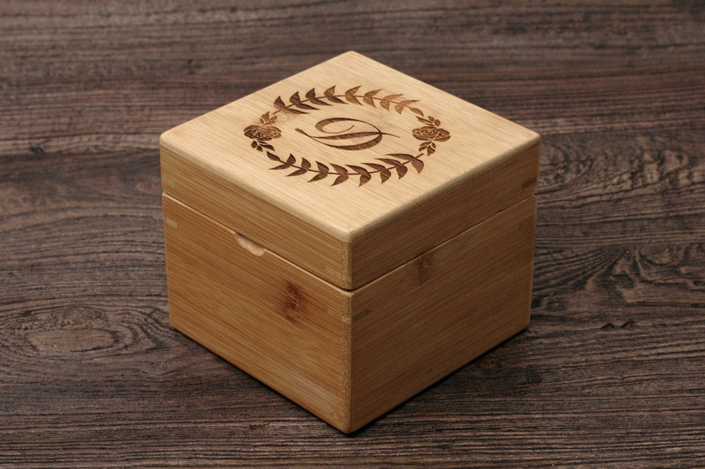 Personalized Essential Oil Storage Box Bamboo Custom Wood Case Ss