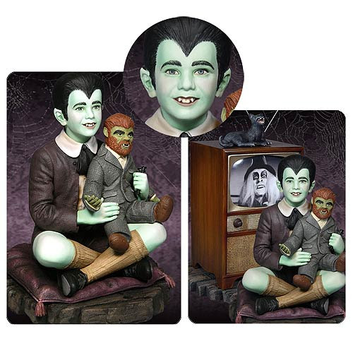 Munsters Eddie and Television Colored Maquette Statue - Tweeterhead - Munsters - Statues at Entertainment Earth