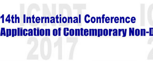 International Conference Application of Contemporary Non-Destructive Testing in Engineering,ICNDT  2017