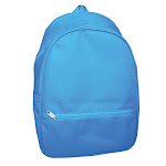 School Smart Youth Backpack With Hidden Zipper, 14-1/2 X 9-4/5 X 6 Inches, Blue