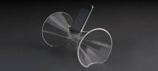 The Most Elegant iPhone Speaker Is Just A Single Piece Of Blown Glass