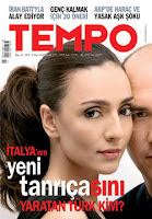 Ambra Angiolini on cover of Tempo magazine