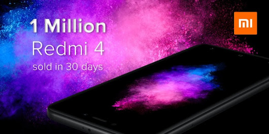 Xiaomi sold 1 million Redmi 4 in 30 days!