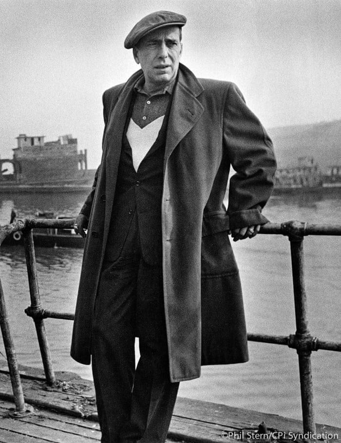 Humphrey Bogart on the set of Blood Alley, 1955