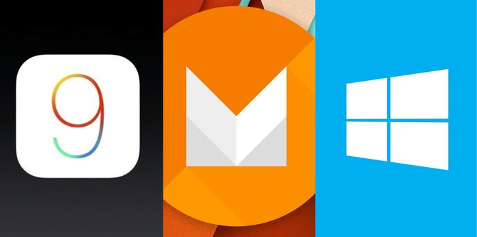 Android M, iOS 9 ou Windows 10 Mobile: qual é o sistema operacional mais inovador? (Foto: Arte/TechTudo)