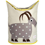 3 Sprouts Baby Laundry Hamper Storage Basket Organizer Bin for Nursery, Goat by VM Express