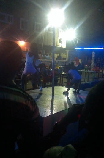 So there's an hotel in Ajegunle where little girls are forced to dance for old men at night