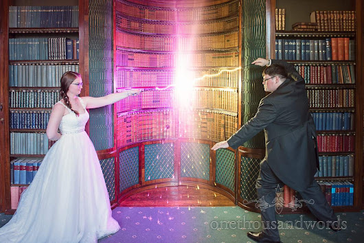 Harry Potter wedding at Upton House wedding venue with Jen and Mike -