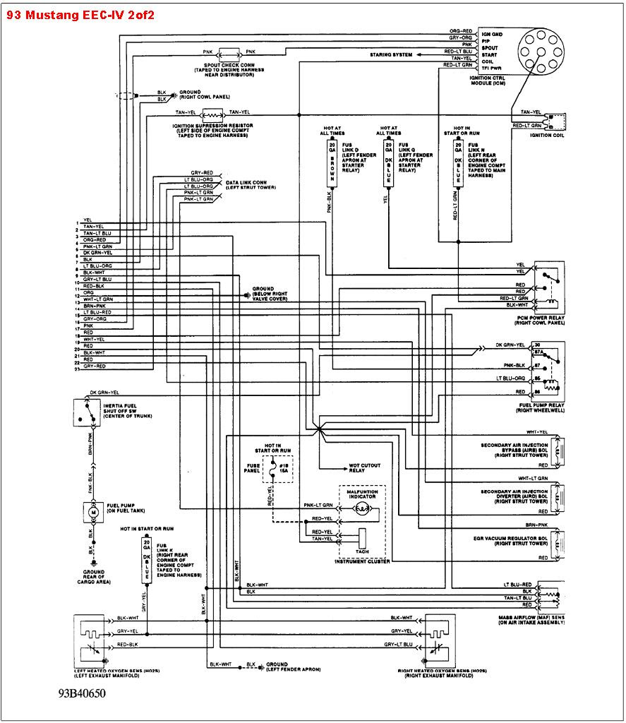 1989 Ford Mustang Wiring Diagram Collection