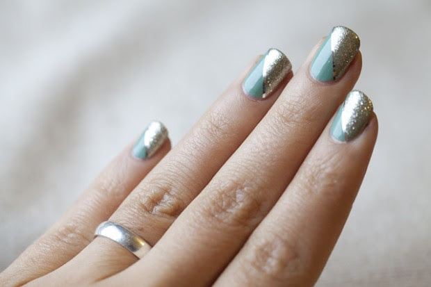 34 Amazing DIY Nail Art Ideas Using Scotch Tape (21)