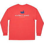 Southern Marsh Authentic Collegiate Long Sleeve T-Shirt | Red w/...