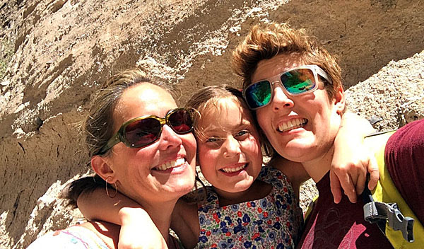 Sally Kohn, right, wants her daughter, Willa Hansen-Kohn, center, to be a lesbian like herself.