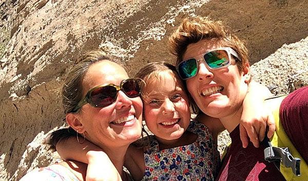 Sally Kohn, right, wants her daughter, Willa Hansen-Kohn, center, to be a lesbian like herself.