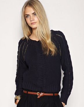 Image 1 of ASOS Premium Chain Detail Cropped Cardigan