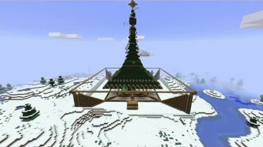 Minecraft GIANT Christmas Tree Parkour Challenge