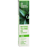 Desert Essence Natural Tea Tree Oil Toothpaste with Baking Soda and Essential Oil of Mint - 6.25 oz