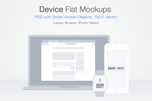 Flat Design Device Suite ~ Product Mockups on Creative Market