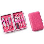 Ultra Suede 9-piece Manicure Set Pink