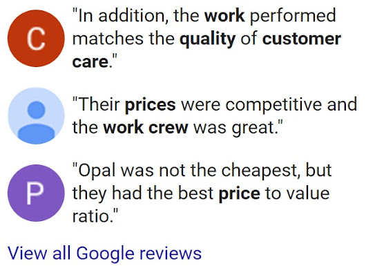 Opal Enterprises - Reviews & Testimonials