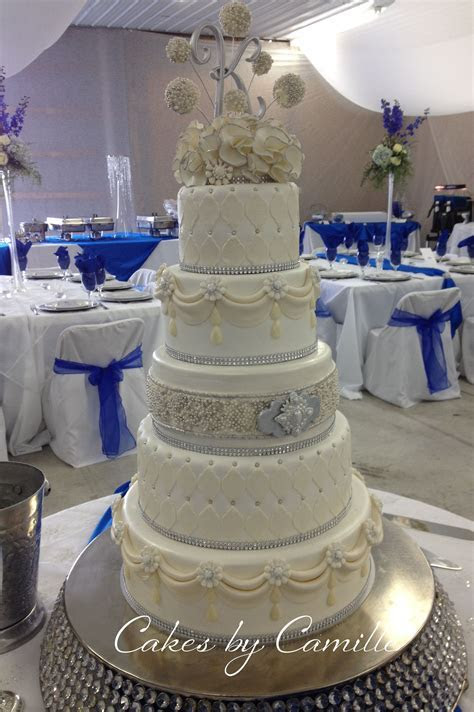 Blinged out crystal wedding cake, Marina Sousa inspired