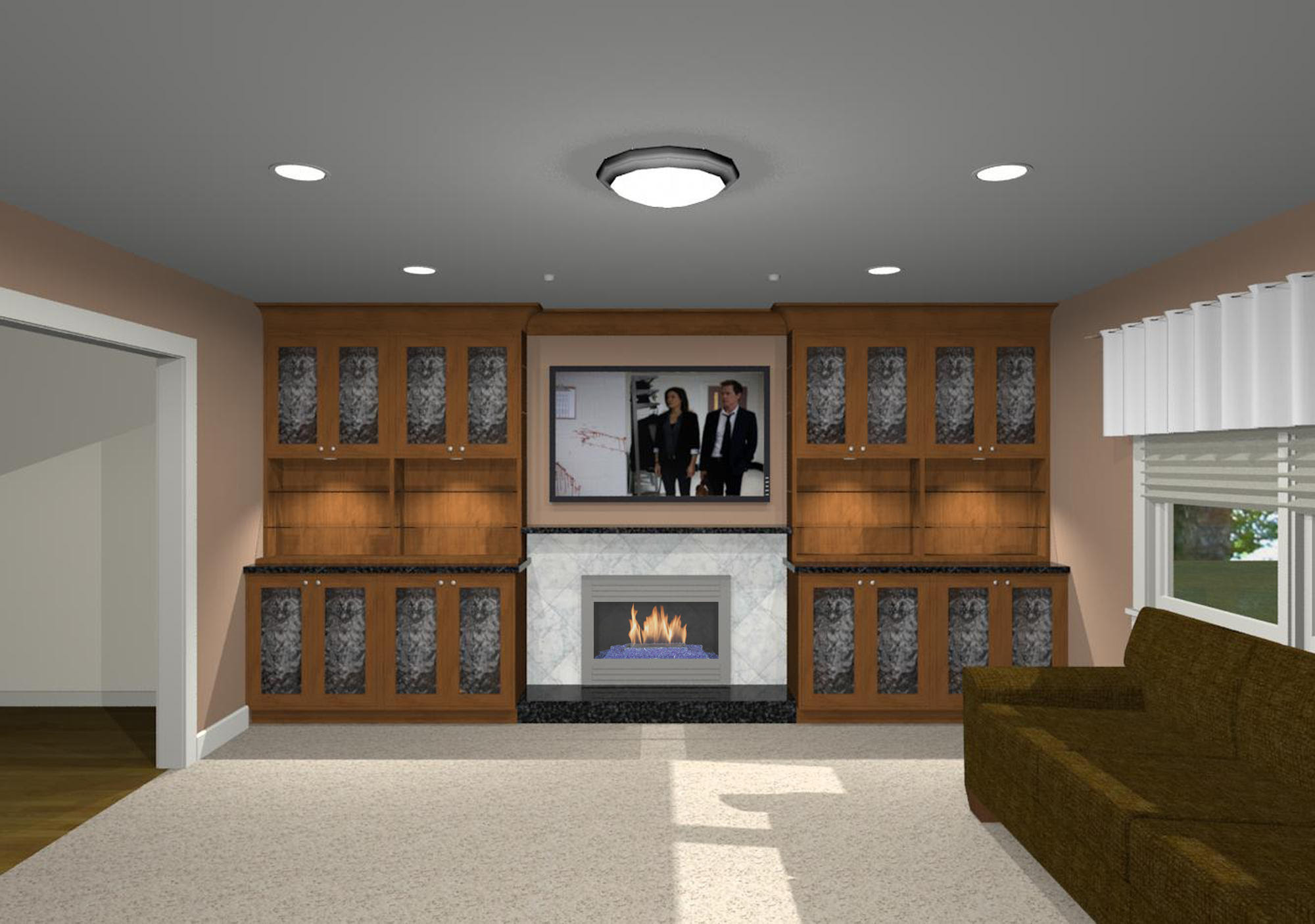 How Do You Hang A Picture On A Stone Fireplace Architecture Home