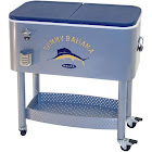 Clearance Center (Open Box)Tommy Bahama The Entertainer 77 Quart Steel Rolling Portable Patio Party Cooler RIORC109TB-61