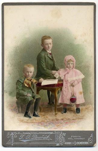 J. O. Dvořák, Praha - Tinted Siblings by josefnovak33