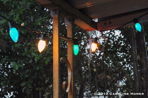 Rain & Christmas lights
