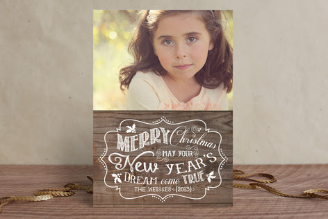 New Year's Dream Christmas Photo Cards