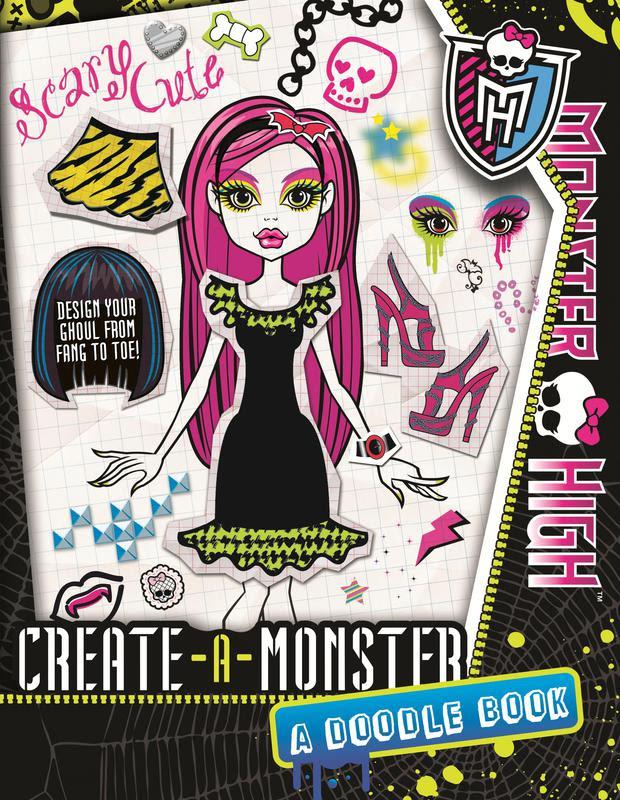 Monster High Create A Monster A Monster High Doodle Book Shop