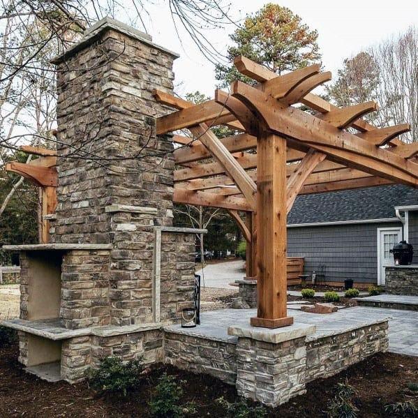 Top 60 Best Patio Fireplace Ideas - Backyard Living Space ...