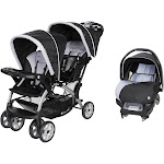 Baby Trend Sit N Stand Travel Double Baby Stroller and Car Seat Combo, Stormy by VM Express