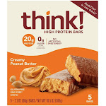 think! High Protein Creamy Peanut Butter Bars - 5ct/10.5oz