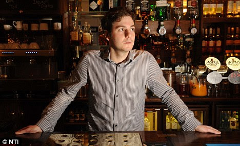 Spooked: Bar manager Peter Yeomans said his staff have had ghostly sightings