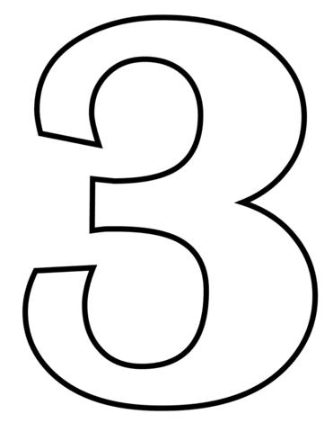 Disegno Di Numero 3 Da Colorare Disegni Da Colorare E Stampare Gratis