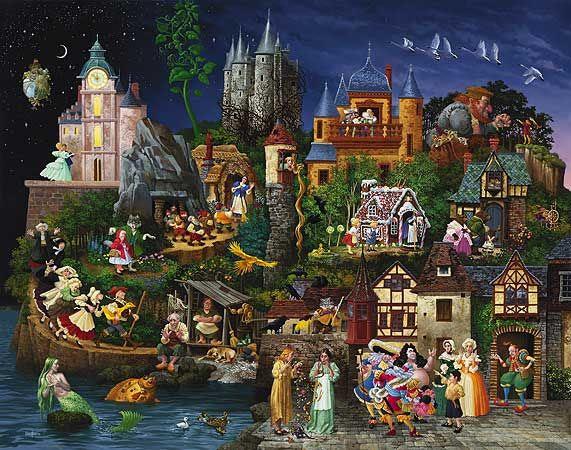 James Christensen - Faery Tales (http://www.hiddenridgegallery.com/store/james-christensen/faery-tales.html)
