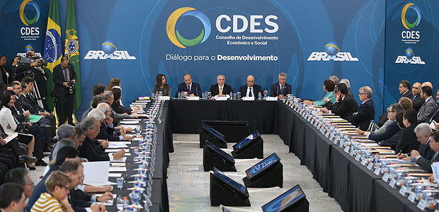 Michel Temer participa da reunião do Conselho de Desenvolvimento Econômico Social
