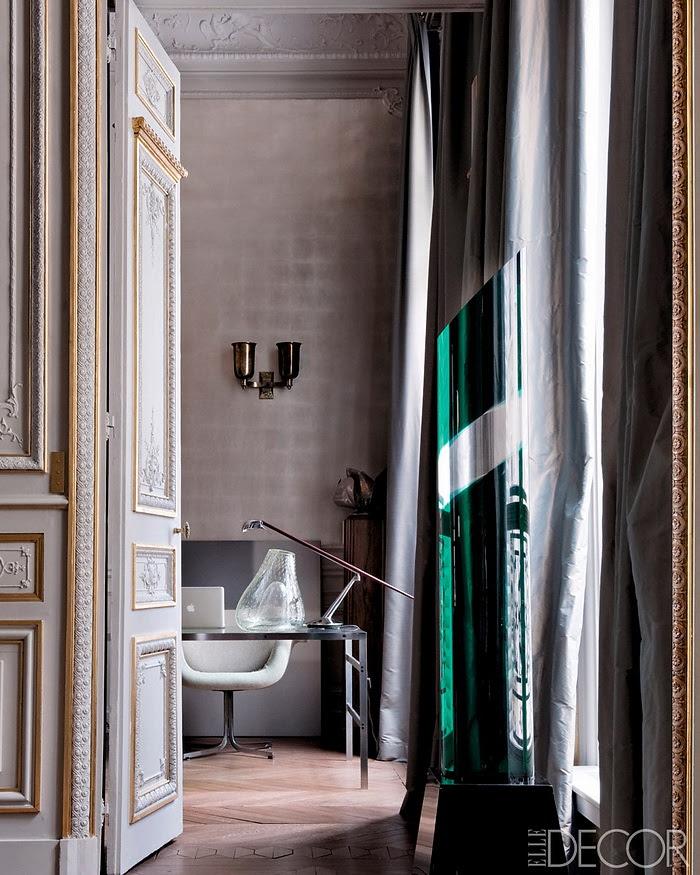 Elle Decor retornar à forma um apartamento em Paris Moderna 3
