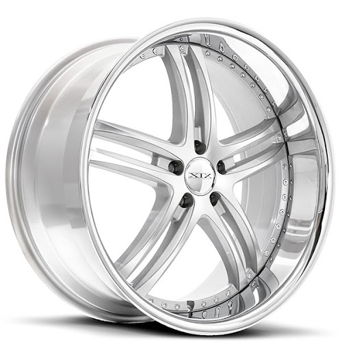 "20"" 22"" 24"" XIX Wheels X15 Silver Machine W SS Lip Rims"