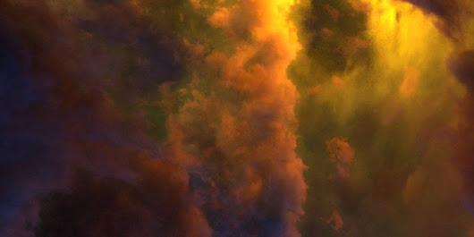 HDR 180-8 Space Sky with Nebula