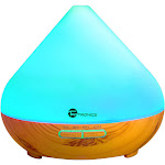Alta Diffusers Essential Oils, 7 Color LED, 300ml Ultrasonic Humidifiers, Wood Grain