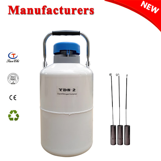2 L Liquid Nitrogen Tank Cryogenic Container Dewar with Straps
