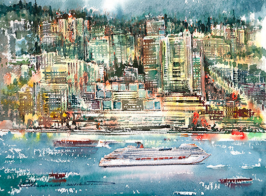 Watercolour artist brings the North Shore to life