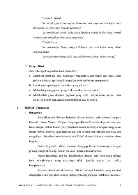 Makalah Bahasa Indonesia - Diksi, Idiom, Peribahasa dan Majas