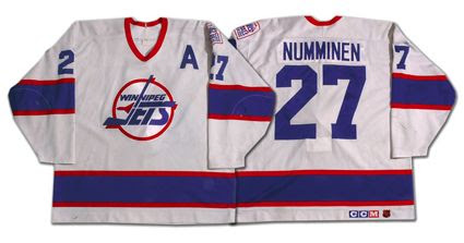 Winnipeg Jets 90-91 home jersey