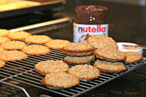Nutella Oat Sandwich Cookies