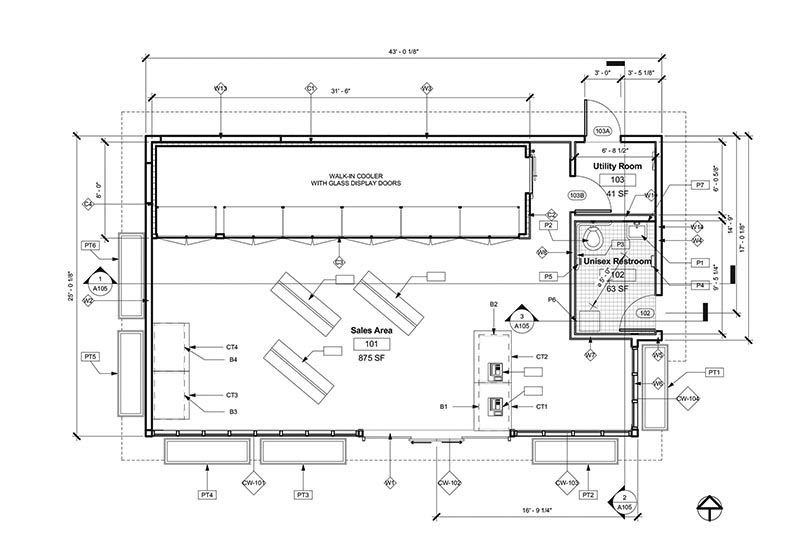 Service Station Store First Floor Plan (Remodeled ...