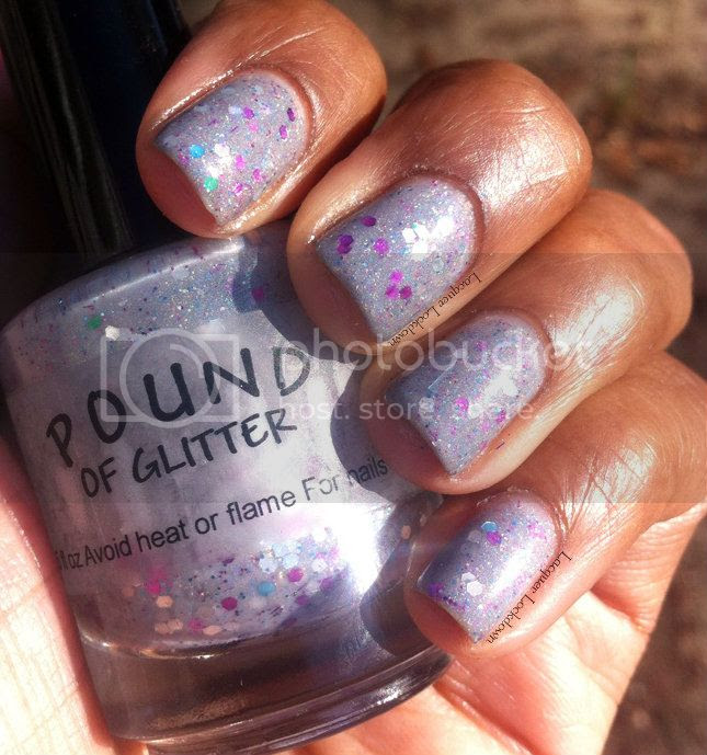 Lacquer Lockdown - Pound of Glitter Gray Matter, gray holographic nail polish, indie glitter nail polish, swatch